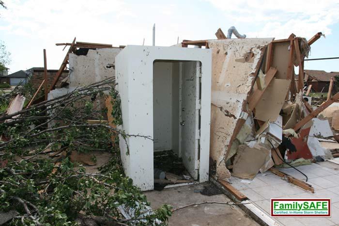 FamilySAFE Storm Shelter Tornado Aftermath